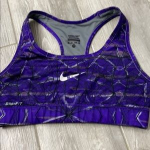 Nike Pro compression sports bra ex cond